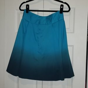 Turquoise Ombre A-Line/Flared Skirt